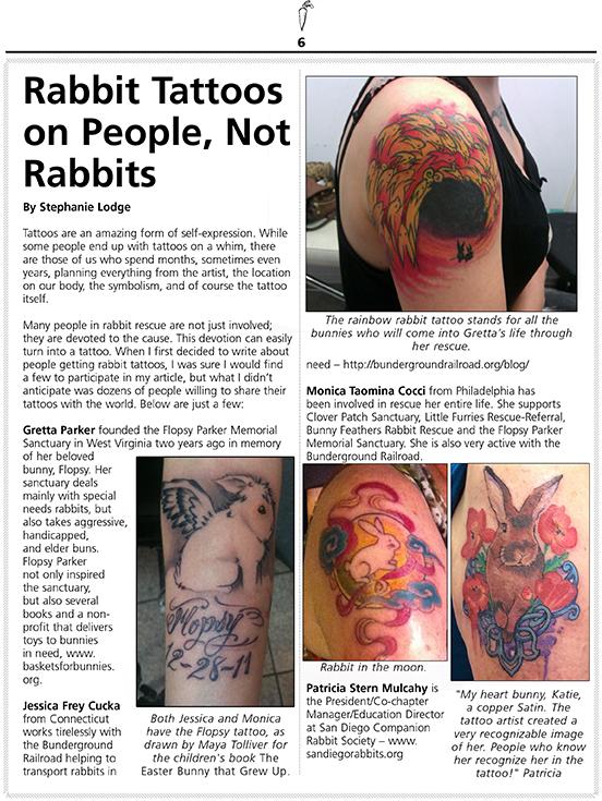 Rabbit Tattoos on People, Not Rabbits